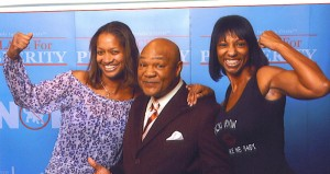 Vicki and Kim with George Foreman