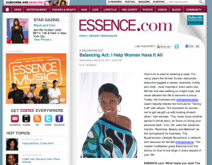 Vicki Irvin Featured In Essence.com